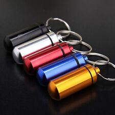 Small Waterproof Pill Medicine Storage Box Bottle Case Container Keychain mot