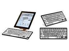 Large Print White Keys with Black Print - Bluetooth Mini Keyboard for iPads, Tab