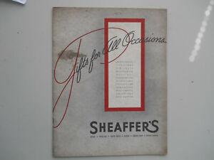 Sheaffer Vintage 1939 Full Line Catalog- 20 pages