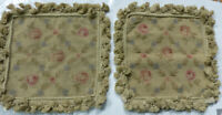 """14""""x14"""" New French Floral Needlepoint Aubusson Hand Woven Tassel Cushion Pillow"""