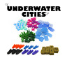 Upgrade tokens x147 - UNDERWATER CITIES Exclusive 3D tokens Deluxe Board game