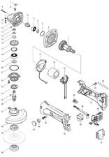 NEU Original Makita DGA452 Akku-Grinder 115MM Repair Spare Parts Replacement