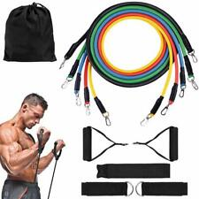 11PCS Resistance Fitness Bands Expander Set Tube Gym Band Yoga Crossfit Workout