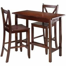 Winsome Sally 3 Piece Counter Height Dining Set in Walnut