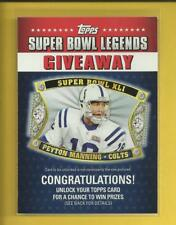 Peyton Manning 2011 Topps Super Bowl Legends Giveaway Insert Card # SBLG-8 Colts