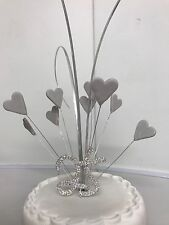 Silver Wedding Anniversary Cake Topper Includes 25 Diamante Sign with Stars