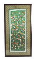 Vintage Chinese Hand Embroidered Silk Panel Hundred Children Playing.