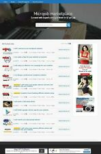 TURNKEY MICROJOBS MARKETPLACE WEBSITE BUSINESS FOR SALE! MOBILE FRIENDLY WEBSITE