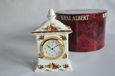 Royal Albert Old Country Roses Royal Doulton pequeño carro Mantel Clock L/S Caja