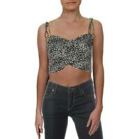 Eileen Fisher Womens Scoop Neck Cropped Cami Camisole Top Shirt BHFO 7243