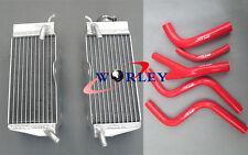 Aluminum Radiator & Red Hose for Honda CR250 CR 250 R CR250R 1985 1986 1987 85