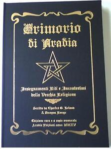 GRIMORIO DI ARADIA - Riti Incantesimi Magia Esoterismo Stregoneria - LIBRO RARO