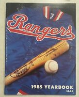 TEXAS RANGERS YEARBOOK 1985 TANANA PARRISH HOUGH HOOTEN RIVERS