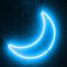 "New Blue Moon Wall Decor Neon Sign 17"""