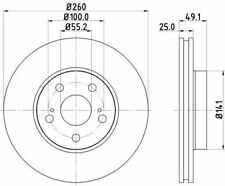 MINTEX MDK0156 BRAKE SET DISC BRAKES Front