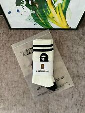 A bathing Ape socks (BAPE) | White striped ape | 1 pair | Brand new UK
