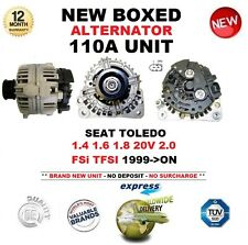 Para Seat Toledo 1.4 1.6 1.8 20V 2.0 FSI TFSI 1999-ON nuevo 110A Alternador Unidad