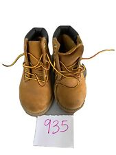 Timberland Size 7 Toddler Wheat 12809M Leather Waterproof Boots