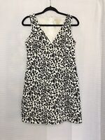 Michael Kors Sleeveless V-Neck Lined Animal Print Dress - 8