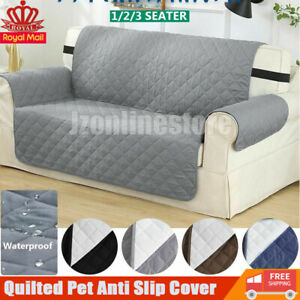 Sofa Covers Quilted Water Proof Washable Anti Slip Cover Furniture Protector Pet