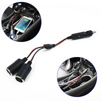 12V Double Power Dual Car Cigarette Lighter-Socket Plug Adapter Charger Splitter