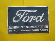 tin metal dealer garage repair shop man cave advertising decor ford service