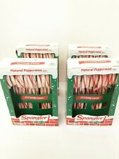 Spangler Natural Peppermint Flavor 4 Boxes 12 Each Full Size Candy Canes 5.3 oz