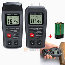 0-99.9% Digital Wood Moisture Meter Humidity Tester Timber Damp Hygrometer 2Pins