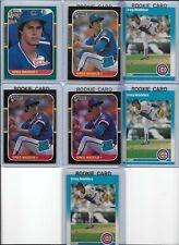 Greg Maddux Rookie Lot of (7) 1987 Donruss Rookies #36 & 52 1987 Fleer RC HOF EX