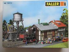 Faller H0 190172 Bahnbetriebswerk-Set NEU Lokschuppen Kohlegrube Wasserturm HO