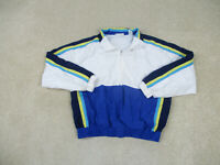 VINTAGE Prince Jacket Adult Medium White Blue Tennis Windbreaker Coat Mens 90s *