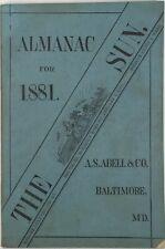 Baltimore Sun Maryland Almanac 1881