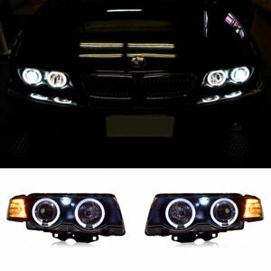 For BMW 7 Series E38 LED Headlights Projector DRL Replace OEM Halogen 1998-2002
