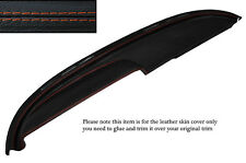 ORANGE STITCH TOP DASH DASHBOARD LEATHER COVER FITS BUICK LESABRE COUPE 1960