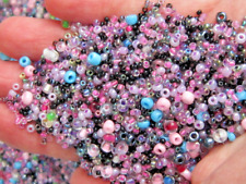 120 Gr Glass Seed Beads Mixed Colours Findings Jewellery Making Crafts Job Lot