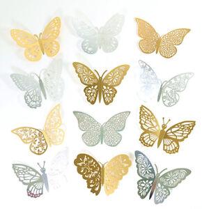 12pcs 3D Butterfly Sticker Art Wall Mural Door Decals Home Decor