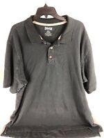 Duluth Trading Co Mens Black Golf Polo Shirt Size 2XLT TALL