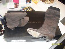 botte en cuir daim gris 38 MISS SIXTY