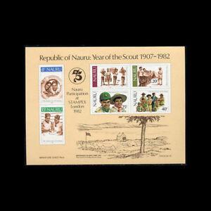 Nauru, Sc #249a, MNH, 1982, S/S, Boy Scouts, Stamp Expo, FHI-9