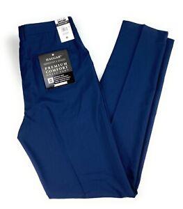 Haggar Men's Slim Fit Premium Comfort Flex Navy Blue NWT Dress Pants 36x38