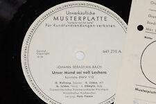 BACH, WEHRUNG, JELDEN, LISKEN, STÄMPFLI -Unser..- LP 1961 Promo Archiv-Copy mint