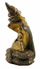Antique Naga Buddha Mucalinda Shan (Tai Yai style), 18th century, Myanmar area