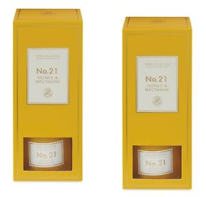 2 x Aldi No.21 Luxury Matte Fragranced Honey & Nectarine Reed Diffuser 100ml