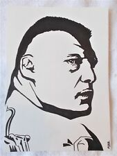 A4 Bolígrafo Marcador De Arte Dibujo luchador Brock Lesnar cartel un