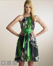 Catherine Malandrino Green Silk Chiffon Printed Dress 0
