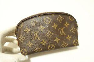 Authentic Louis Vuitton Monogram Pouch Accessories Brown Bag #7496