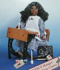 """1996 Springfield Collection School Days Paint 'n Stencil Kit 18"""" Doll Dress 6158"""
