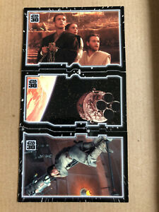 Star Wars 30th Anniversary Topps Tryptich 3 Card Puzzle Set, Escaping Fate, Jedi