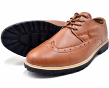 Tanggo Men's Formal PU/PVC Leather Shoes 802 (brown)  SIZE 44