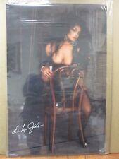 Vintage Hot Girl Model poster Model Latoya Jackson Singer Playboy 1989 Inv#G491